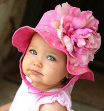 Pink Peony Baby Sunhat