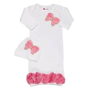 take baby home outfit, Designer layette an hat
